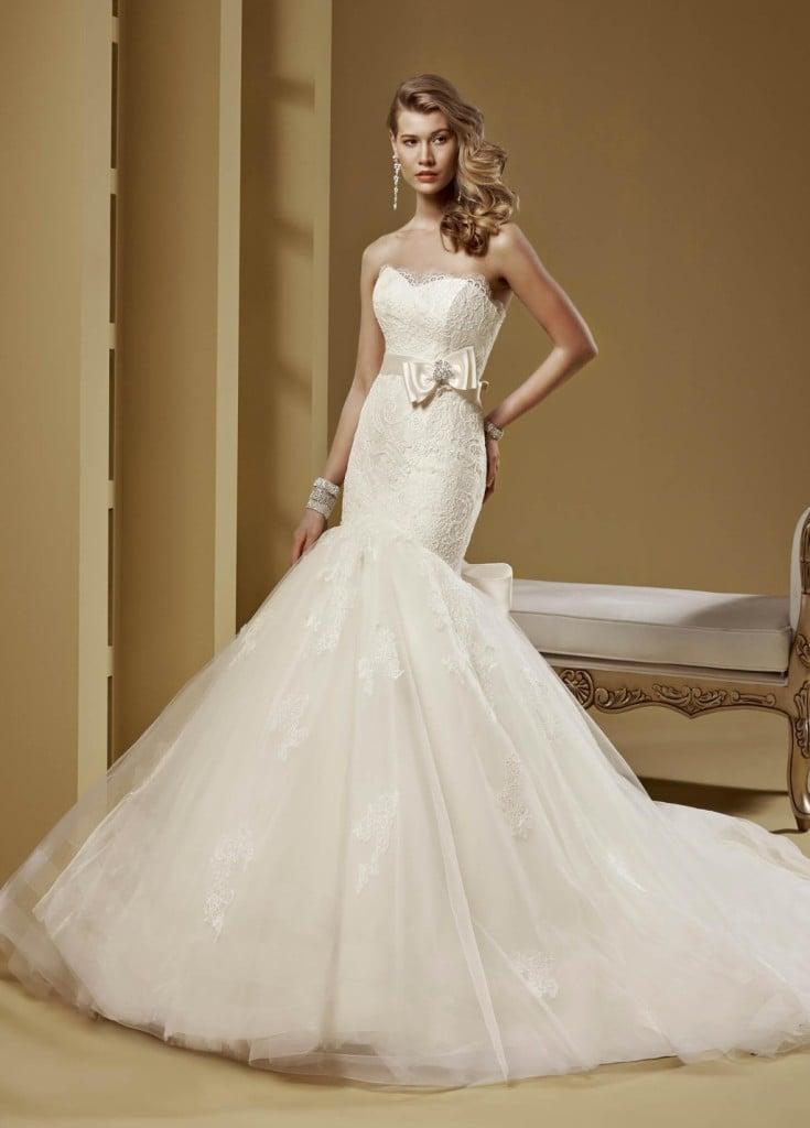 Linea Romance 2015 modello stile sirena bianco