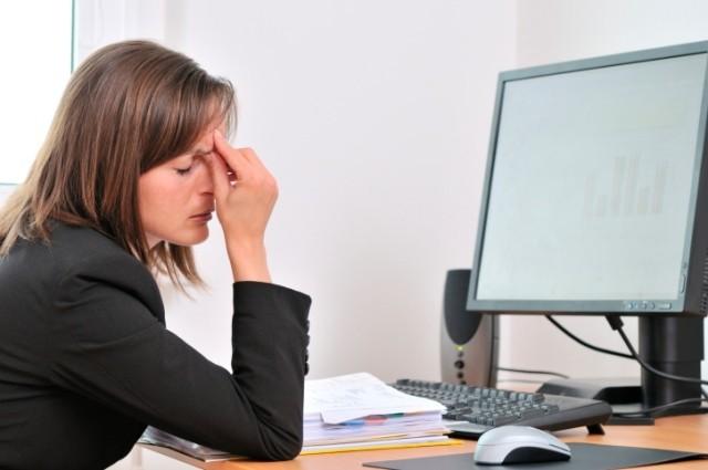 stanchezza occhi al computer