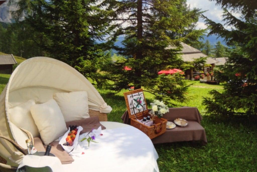 romantico picnic sulle Montagne