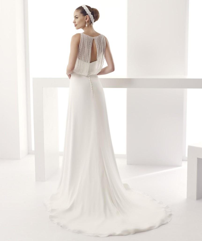 Dettaglio schiena abito da sposa linea Jolies