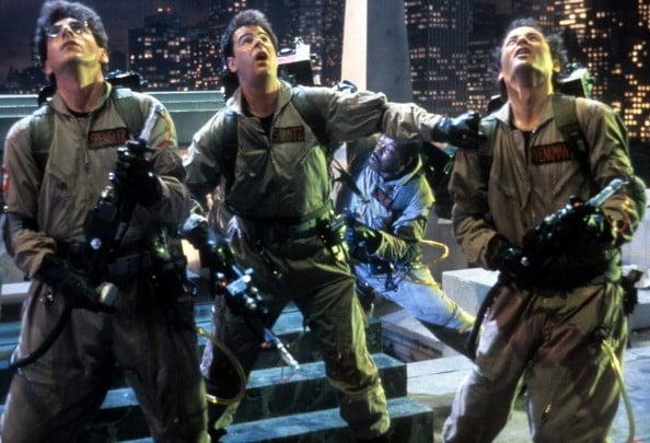 Harold Ramis, Dan Aykroyd e Bill Murray in una scena di Ghostbusters del 1984