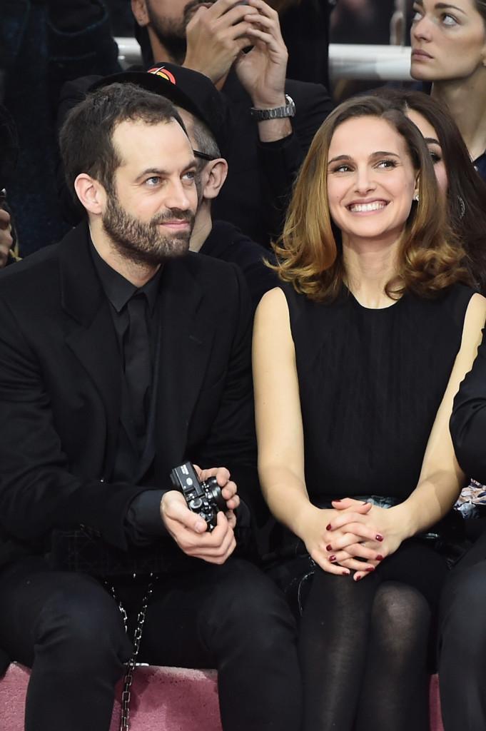 Natalie Portman e il marito Benjamin Millepied da Dior