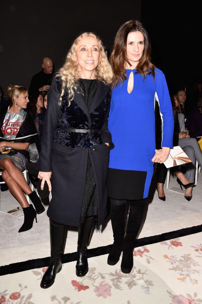 Franca Sozzani e Livia Firth insieme alla sfilata di Giambattista Valli