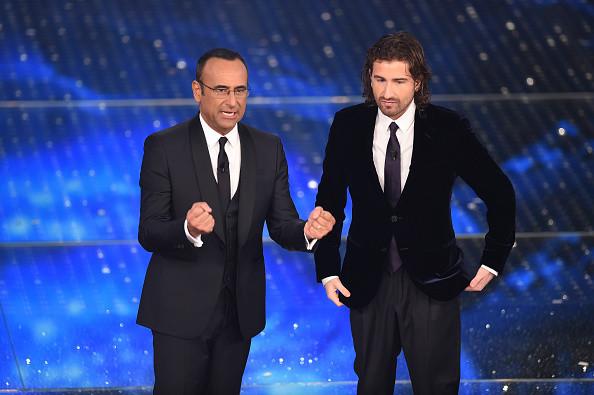 Carlo Conti con Alessandro Siani