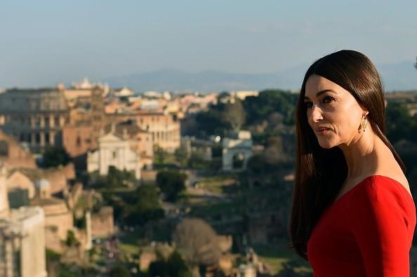 La Bellucci ieri a Roma