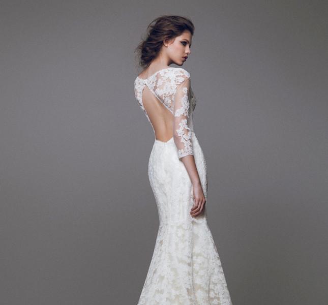Sirena sensuale, pizzi e ricami per l'abito Blumarine sposa 2015