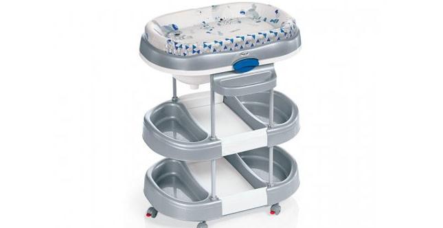 Brevi mod. Acqua fasciatoio dalla linea moderna dotato di vaschetta per bagnetto e due ampi ripiani www.brevi.it