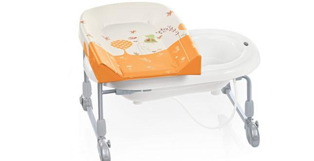 Brevi mod. Bagno Time reversibile da appoggio sulla vasca da fasciatoio diventa vaschetta per il bagnetto www.brevi.it