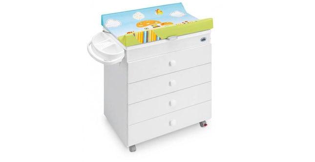 Cam mod. Asia fasciatoio dotato di cassettiera e confortevole vaschetta regolabile in due posizioni differenti www.camspa.it