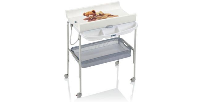 Cam mod. Ulisse fasciatoio co vaschetta per bagnetto e portaoggetti dotato di 4 ruote con rotelle www.camspa.it