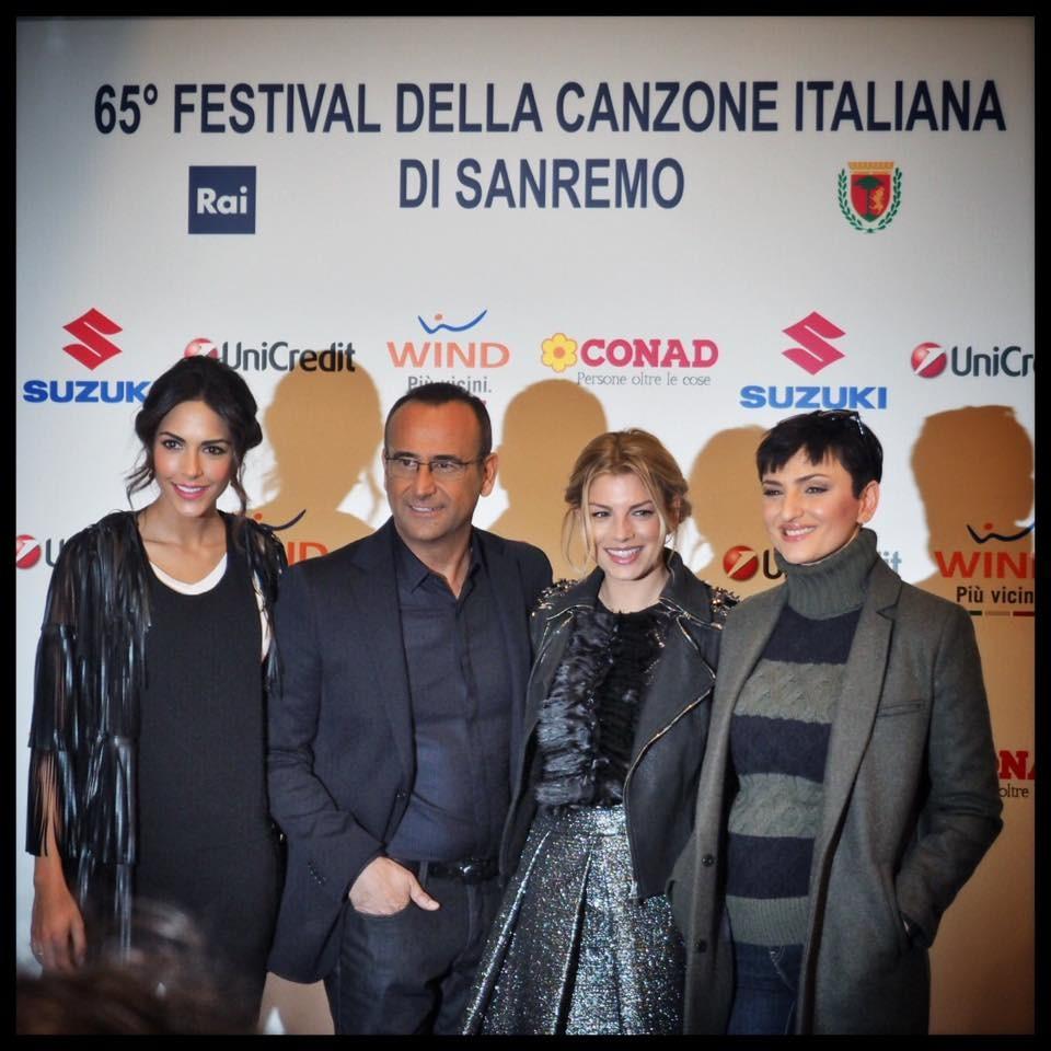 Il cast del Festival di San Remo