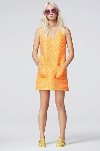 Linea ad A per il vestito con tasche