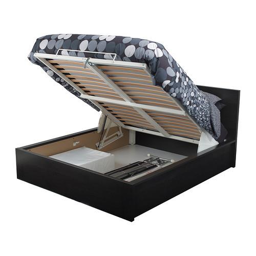 Malm Ikea struttura letto con contenitore, marrone 349 euro
