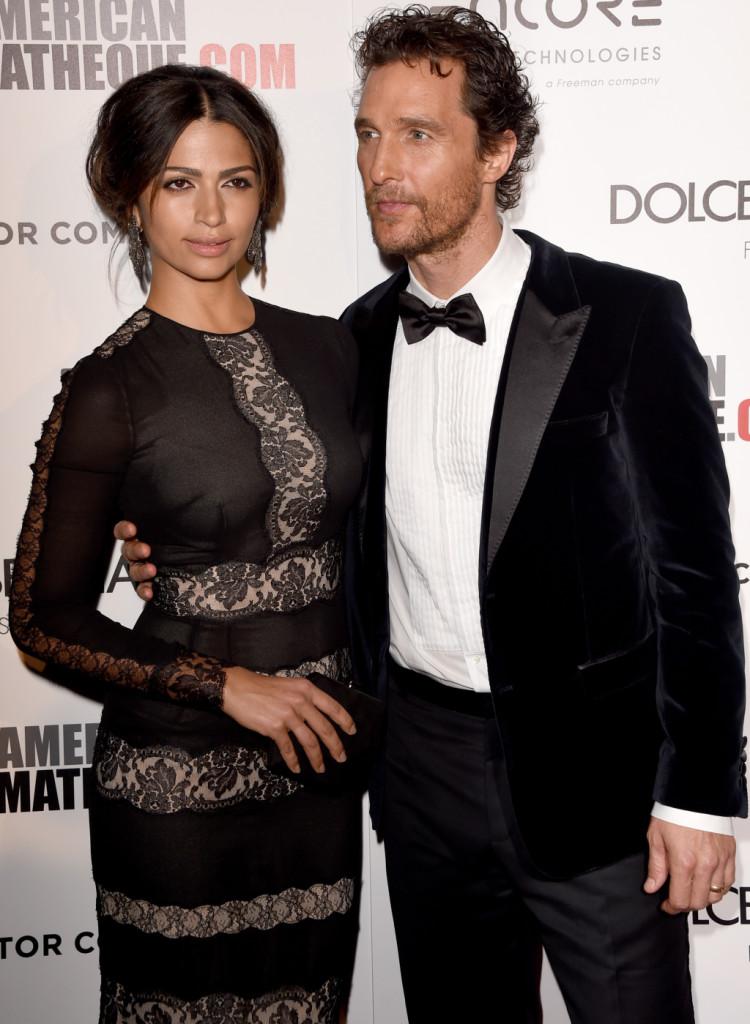 Matthew McConaughey e Camila Alves all'American Cinematheque Award