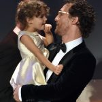 Matthew McConaughey con la figlia Vida Alves