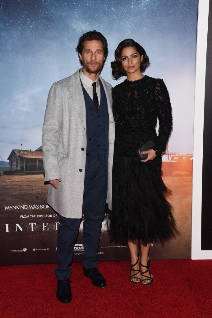 Matthew McConaughey e Camila Alves alla Premiere di Interstellar a New York