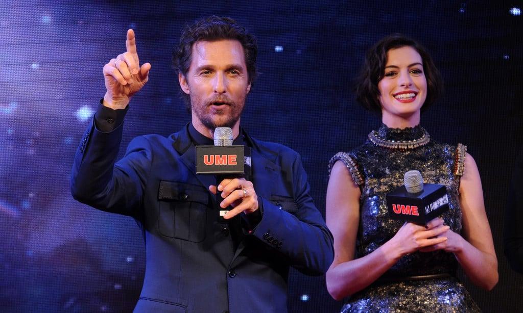 Matthew McConaughey e Anne Hathaway a Shangai per la premiere di Interstellar