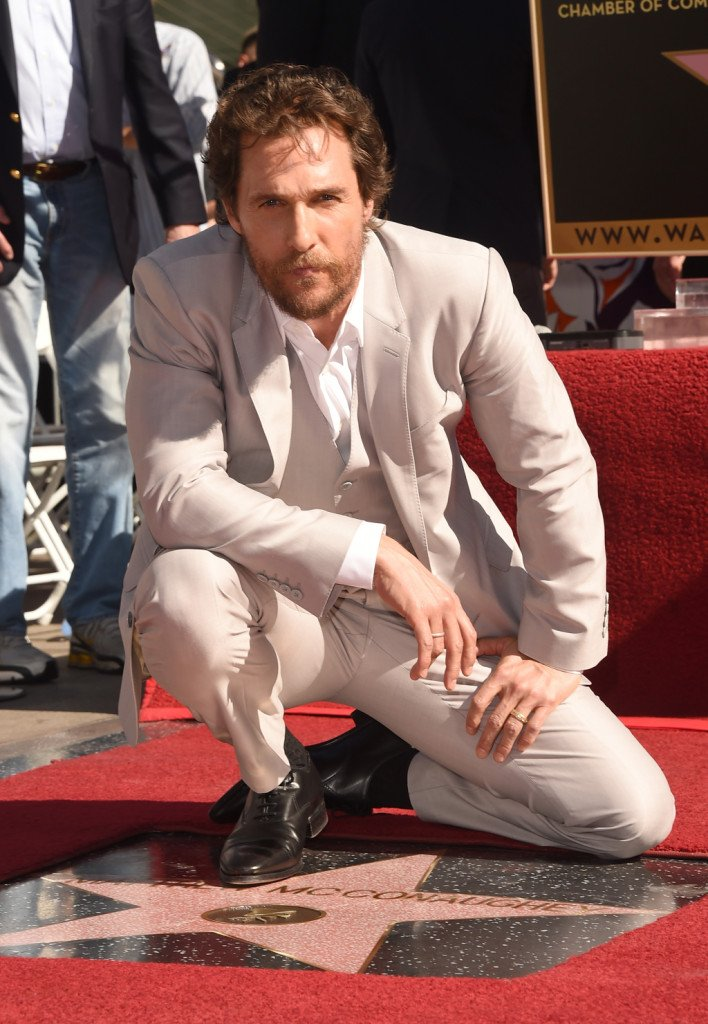 Matthew McConaughey a Hollywood sulla Walk Of Fame durante la cerimonia di assegnazione della sua