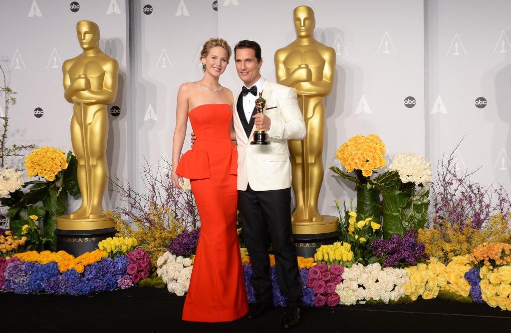 Jennifer Lawrence e Matthew McConaughey vincitori dell'Oscar come Miglior Attrice e Attore Protagonista nel 2014