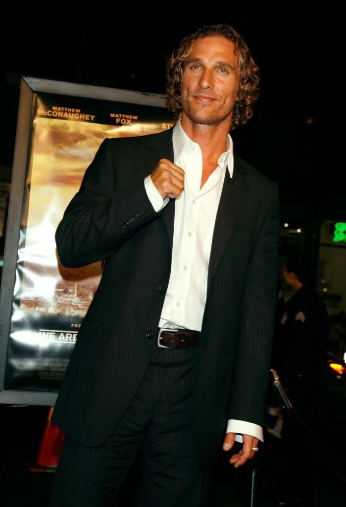 Matthew McConaughey  alla prima di We Are Marshall