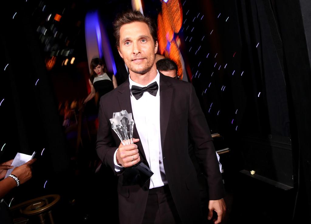 Matthew McConaughey premiato per True Detective ai Critics' Choice Television Awards 2014