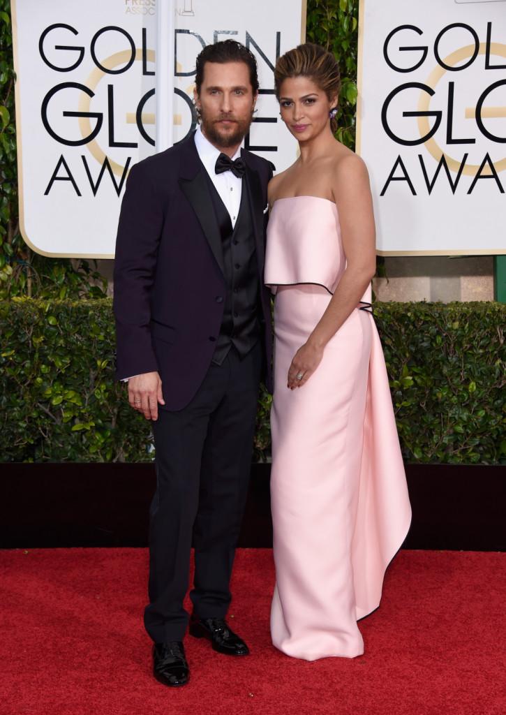 Matthew McConaughey e Camila Alves alla 72esima edizione dei Golden Globe Awards