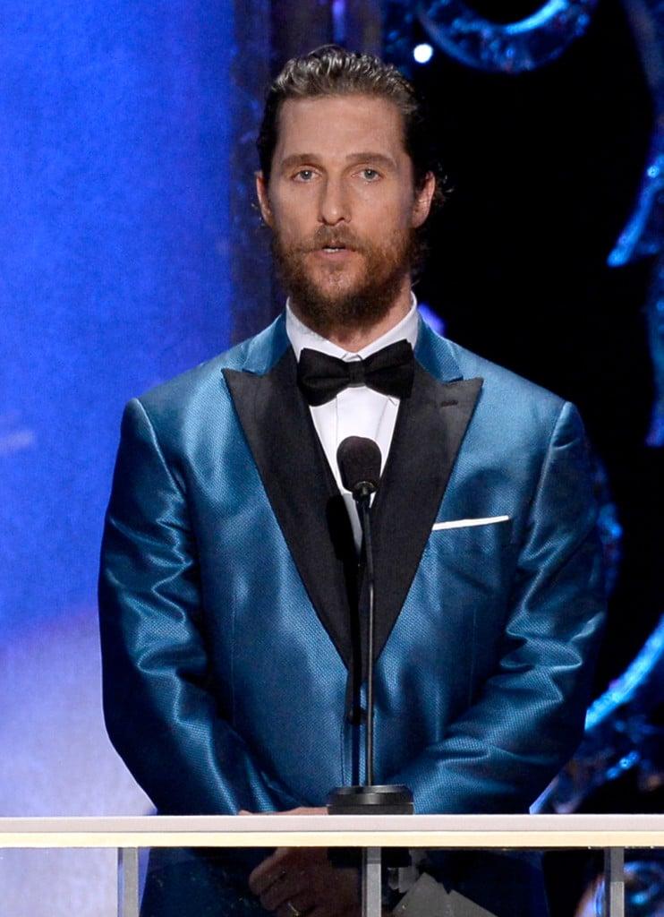 Matthew McConaughey alla 21esima edizione degli Screen Actors Guild Awards