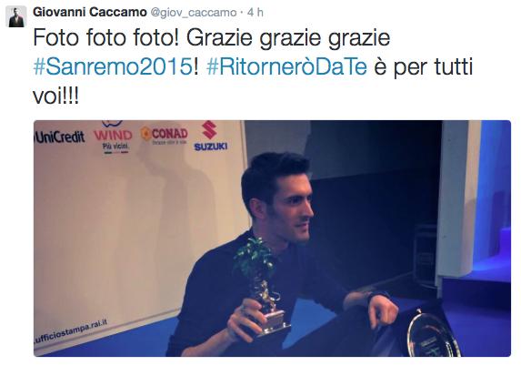 tweet caccamo