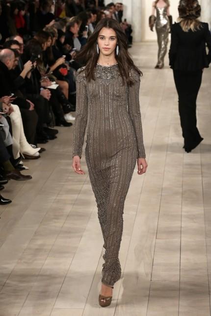 Ralph Lauren abito lungo e stretto con dettagli shining