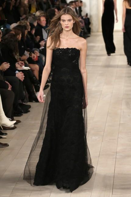 Ralph Lauren abito da sera nero con nuvola di tulle