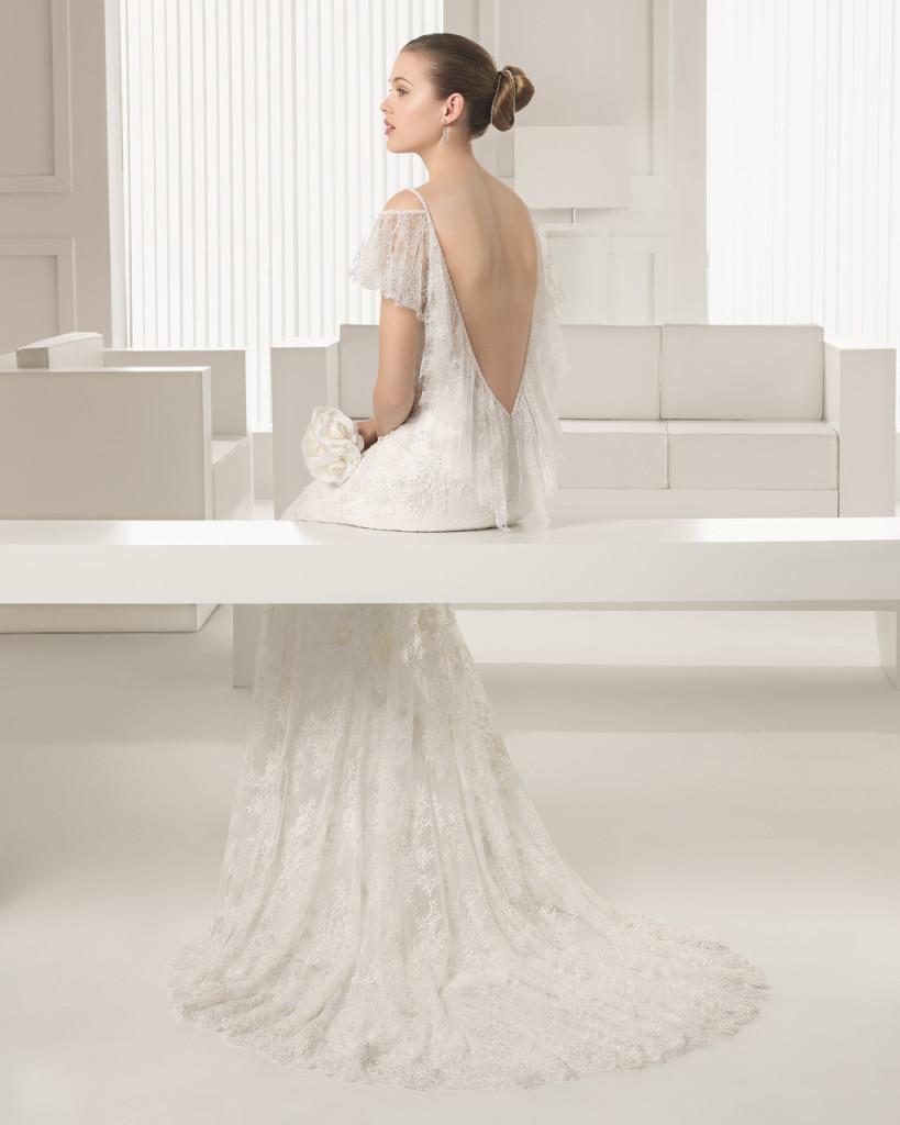 abito sposa rosa clarà modello Silvestre