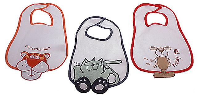bavaglini chiusura a strappo per neonati della Prenatal