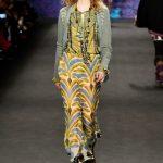 Anna Sui pantaloni con dettagli e colori psichedelici in puro stile vintage