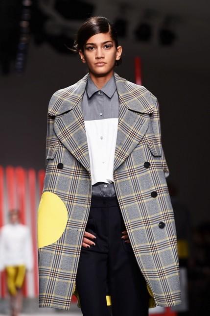 Eudon Choi cappotto in tartan
