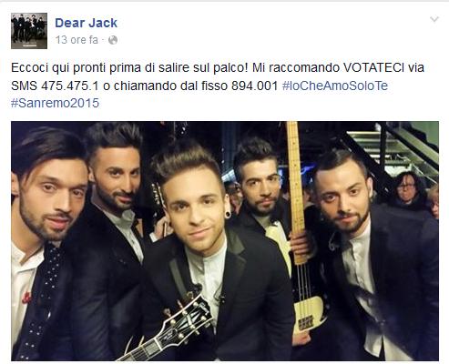 I Dear Jack sono in costante contatto con i loro fan sulla pagina facebook del gruppo sempre aggiornata