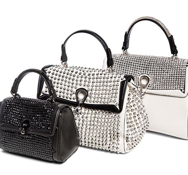 Tris di borse con borchie