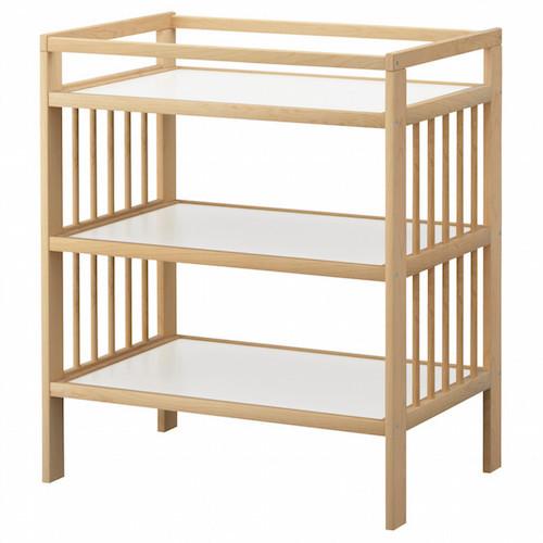 fasciato con ripiani in legno naturale Ikea mod. Gulliver