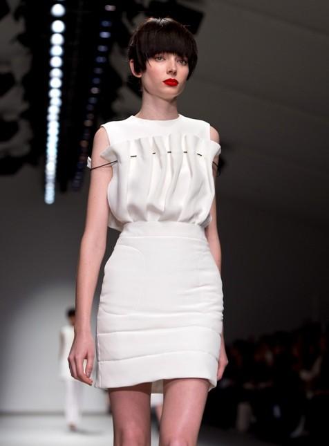 J.JS Lee mini dress bianco