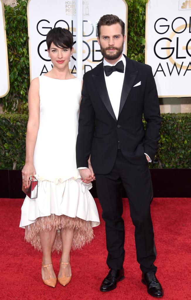 Amelia Warner e Jamie Dornan alla 72esima edizione dei Golden Globe Awards al Beverly Hilton Hotel