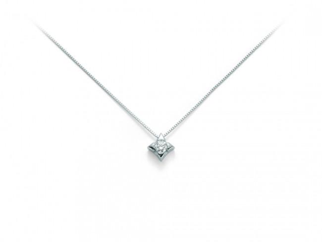 Miluna collier in oro 750/1000 e diamante