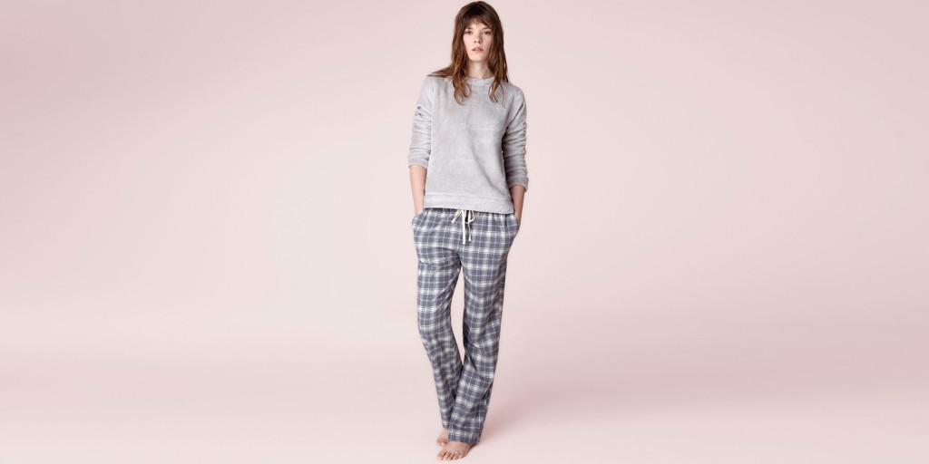 Oysho_Un pigiama con stampa da alternare a felpe e cardigan