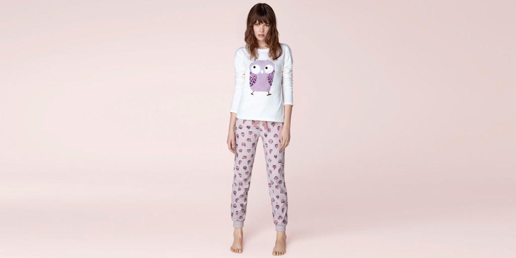Oysho_Un pigiama dalla stampa fantasiosa da alternare a felpe e cardigan