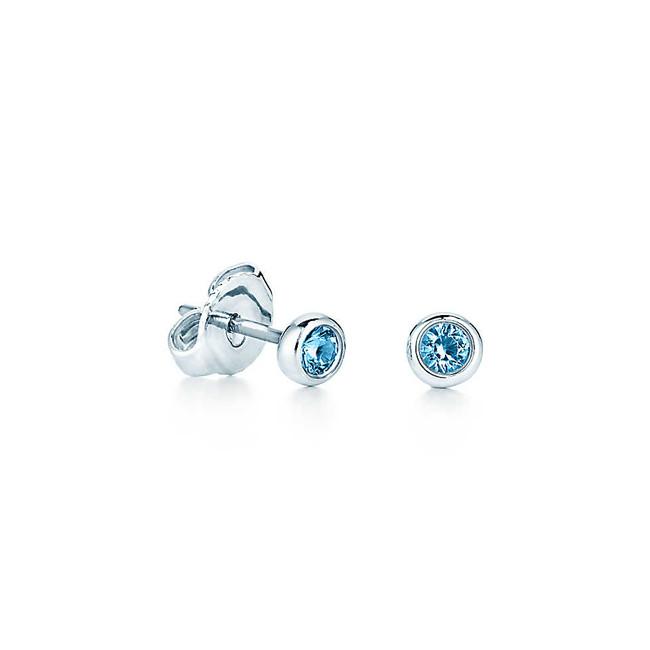 Tiffany & Co. orecchini in argento con due acquemarine tonde
