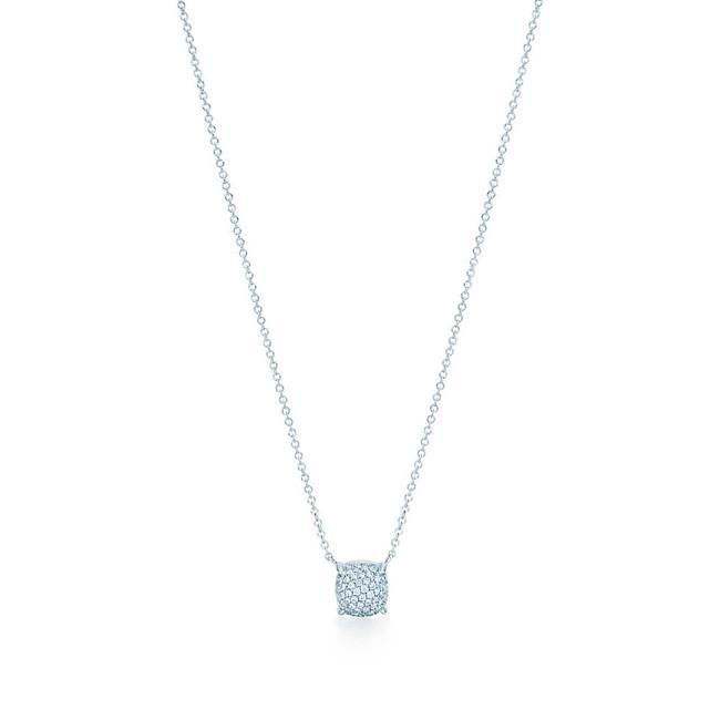 Tiffany & Co. collana in oro bianco con pavé di diamanti