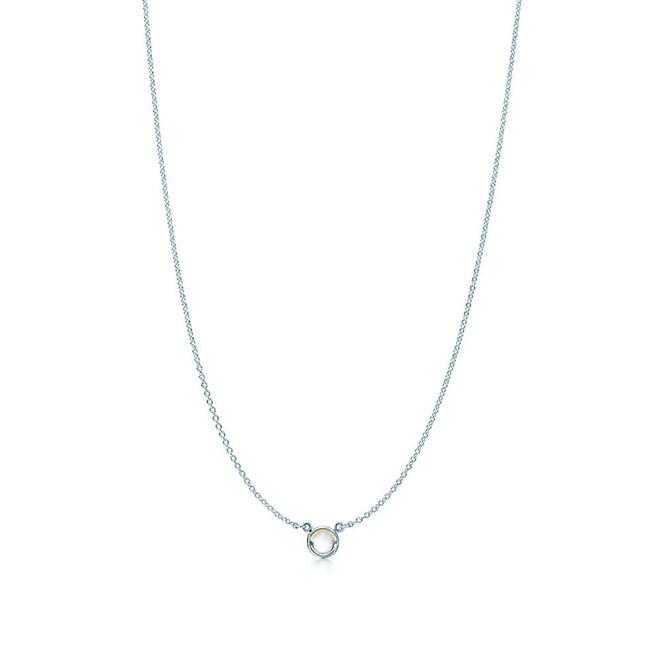 Tiffany & Co. collana Colour by The Yard con pendente in argento e selenite taglio cabochon