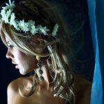 cerchietto sposa con fiorellini bianchi