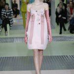Prada mini dress rosa confetto con fiocchi ai lati