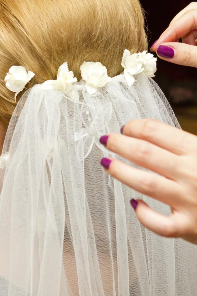 fiorellini abbinati al velo