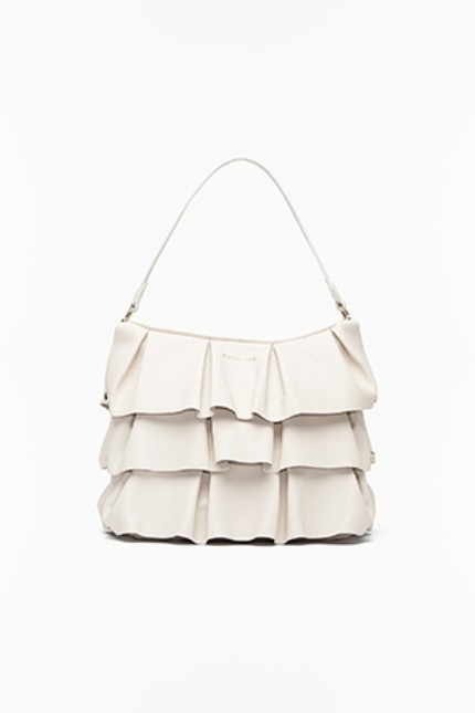 Twin-Set shoulder bag chantilly con ruches
