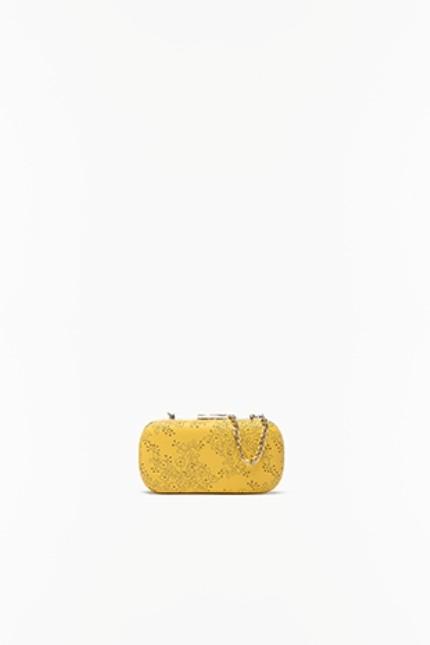 Twin-Set mini clutch color senape con catenina